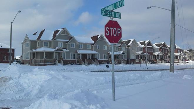 Stop The Snow!!!! Get It Stop Sign Stop Snow!! Bowmanville, Ontario Canada