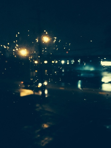 rainy night. Surrey, British Columbia Canada