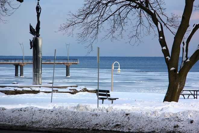 A frozen Lady of the Lake Burlington, Ontario Canada