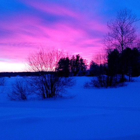 Cotton Candy Sky Timmins, Ontario Canada