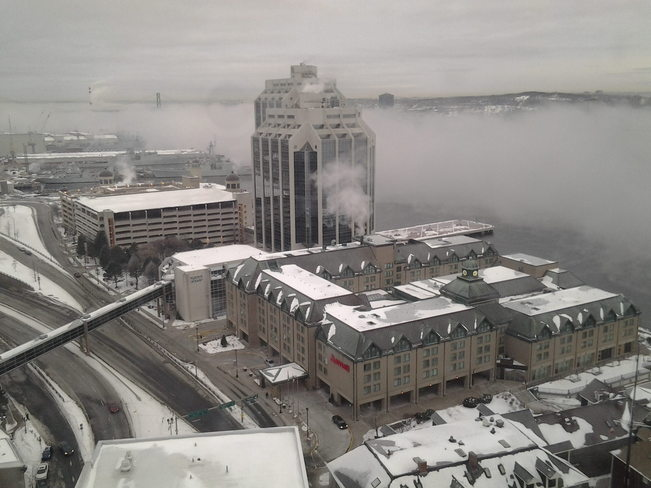 Sea Smoke on Halifax Harbour Halifax, Nova Scotia Canada
