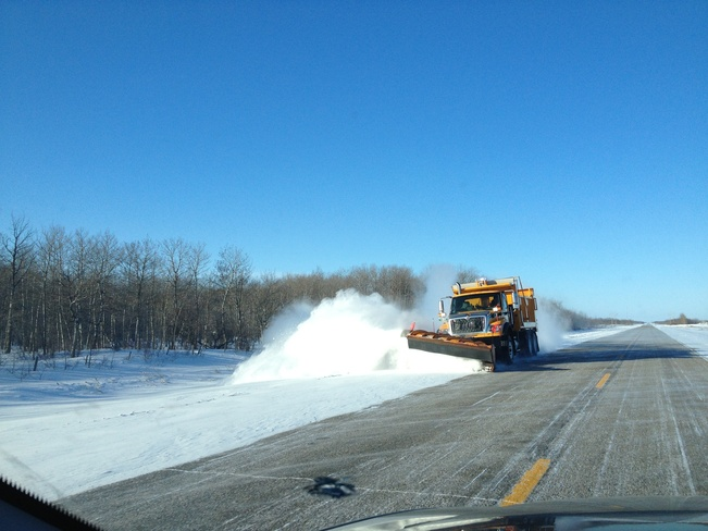 Snow removal once again Ste. Rose du Lac, Manitoba Canada