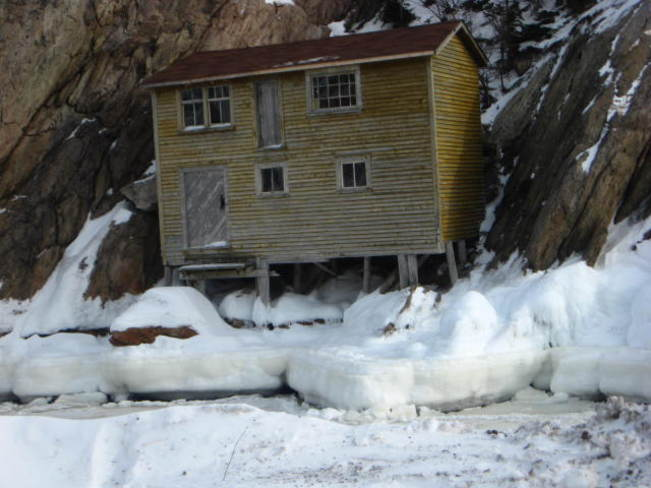 old house on the rock at shoe cove nl Baie Verte, Newfoundland and Labrador Canada
