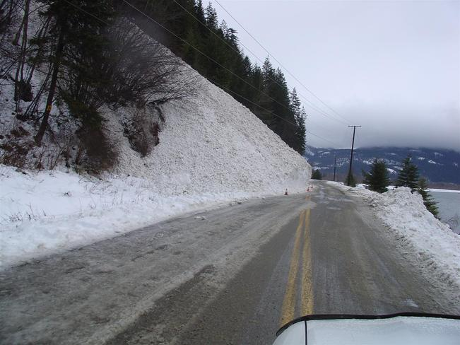 Avalanche North of Lardeau Kaslo, British Columbia Canada