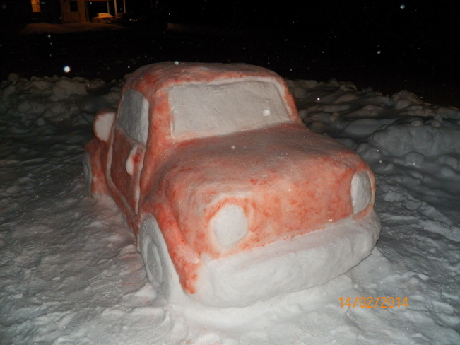 Snow car Acadieville, New Brunswick Canada