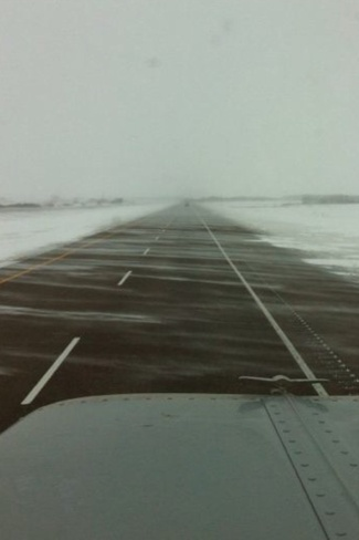 Snowing and Blowing Prince Albert, Saskatchewan Canada