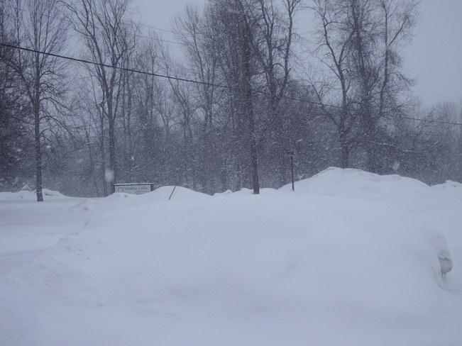 Feb. 14 Snow storm. Long Sault, Ontario Canada