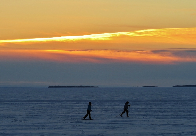 Beautiful night for cross country skiing! North Bay, Ontario Canada