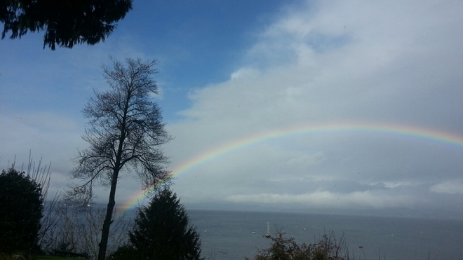 Rainbow over Chemainus Chemainus, British Columbia Canada