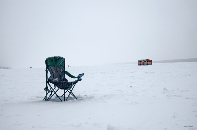 Ice Fishing Barrie, Ontario Canada