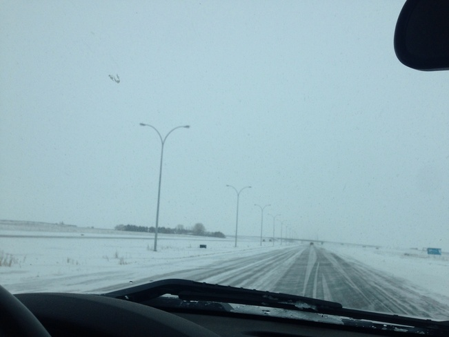 winter driving Regina, Saskatchewan Canada