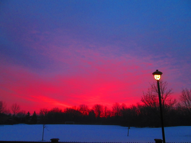 Red sky in the morning... Stoney Creek, Ontario Canada