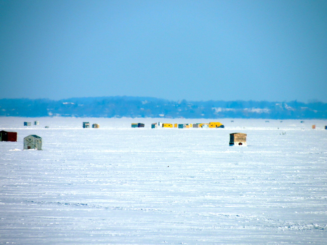 Ice Fishing Lake Scugog 4Harold F. Port Perry, Ontario Canada