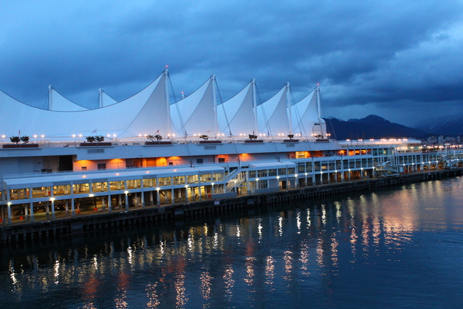 Night view at Waterfront Richmond, British Columbia Canada