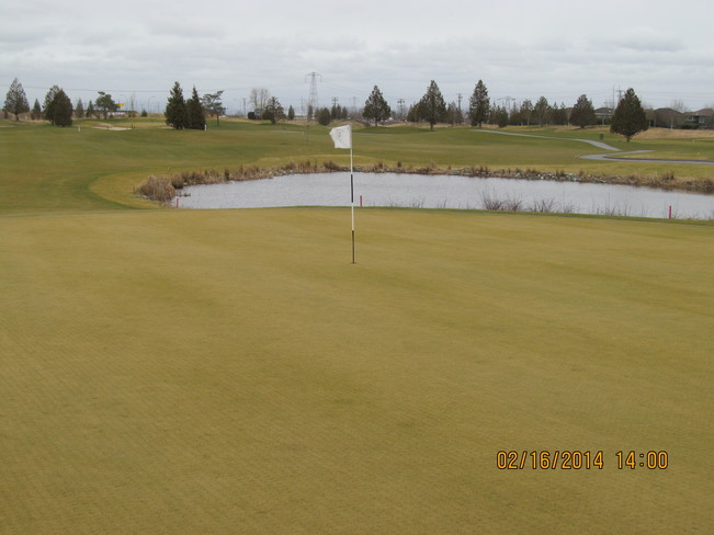 Too windy and cold to golf Tsawwassen, British Columbia Canada