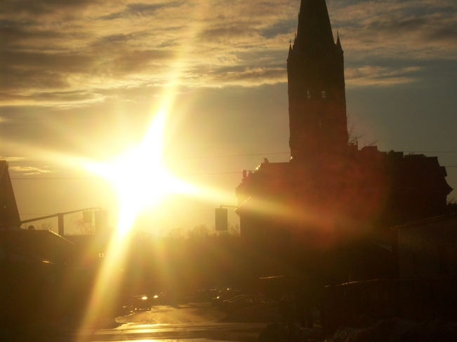 Lovely evening sun over Belleville's Market square Belleville, Ontario Canada