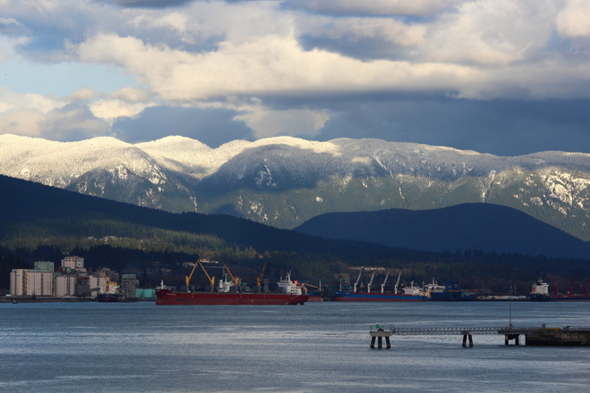 snow covered mountains Vancouver, British Columbia Canada