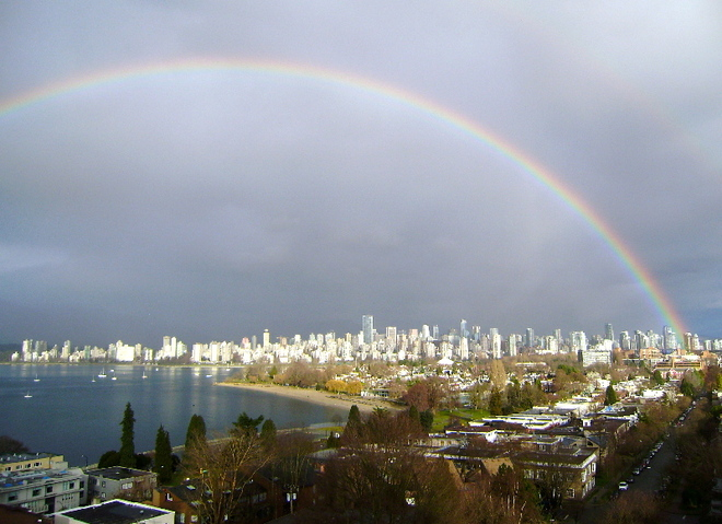 Rainbow over Vancouver Vancouver, British Columbia Canada