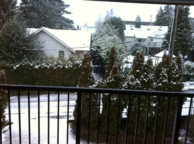 Snowy day in New Westminster New Westminster, British Columbia Canada