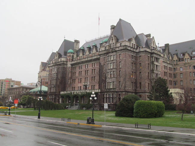 Snowstorm in Victoria - The Empress Victoria, British Columbia Canada