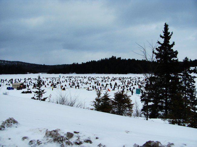 Ice Fishing Derby Elliot Lake, Ontario Canada