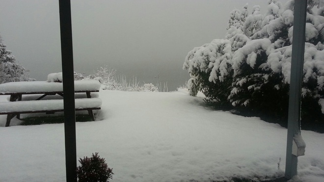 Still snowing in Chemainus Chemainus, British Columbia Canada