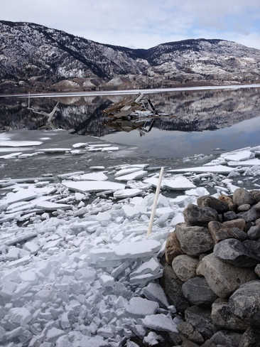 Wind and Ice on Skaha Lake Penticton, British Columbia Canada