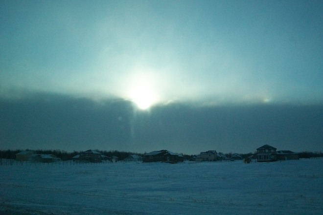 windy and cold ...fast moving clouds St. Malo, Manitoba Canada