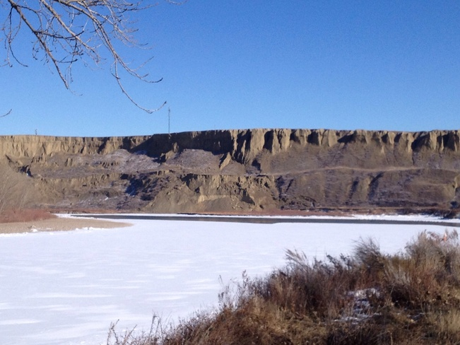 Bluffs overlooking the River.. Medicine Hat, Alberta Canada