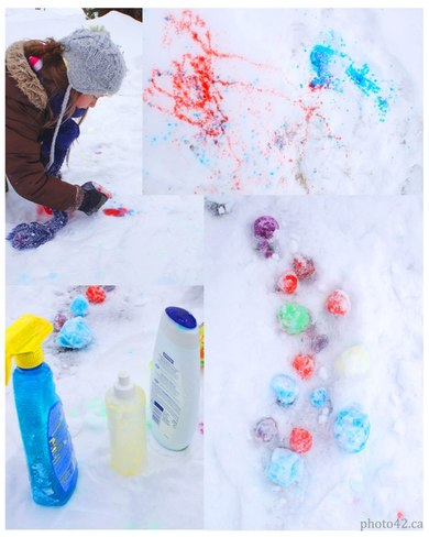Snow fun with colors Brampton, Ontario Canada