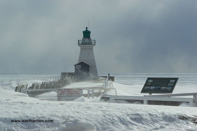 Cold Weather Affecting Schools And Businesses Port Dover, Ontario Canada