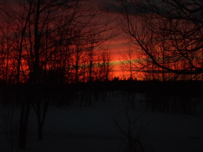 Red sunset Mount Uniacke, Nova Scotia Canada