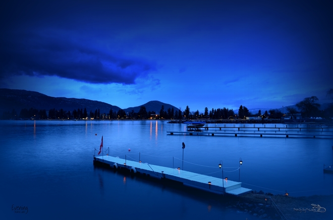 Evening at Skaha Lake 3/6/2014 Penticton, British Columbia Canada