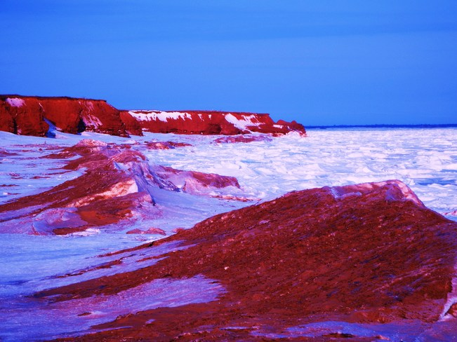 white wave morning Lower Darnley, Prince Edward Island Canada