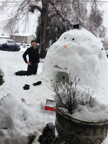 Enough snow to build this Nanaimo, British Columbia Canada