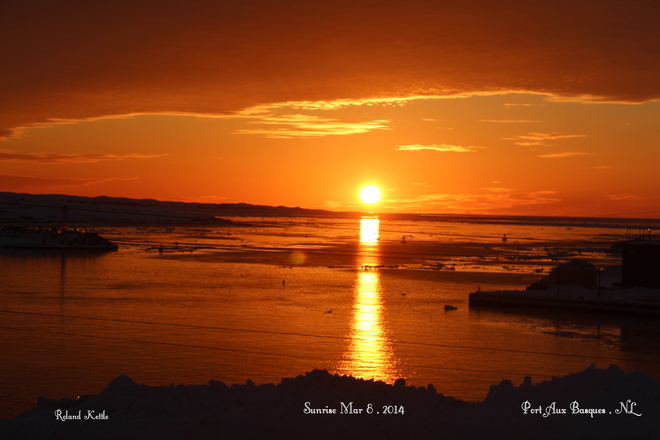Sunrise in Port Aux Basques Channel-Port aux Basques, Newfoundland and Labrador Canada
