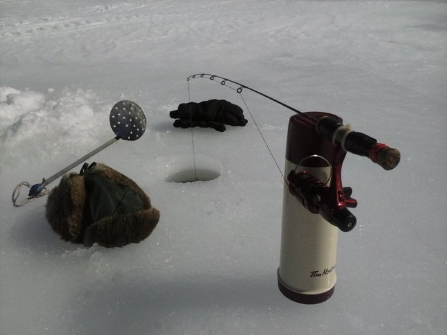 Ice Fishing Renforth, New Brunswick Canada