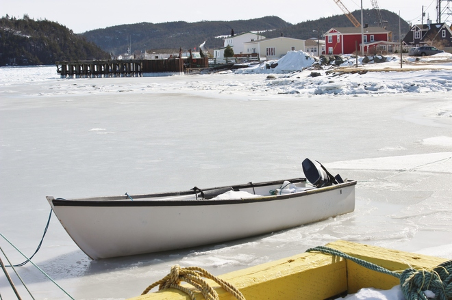 stuck in the ice Placentia, Newfoundland and Labrador Canada