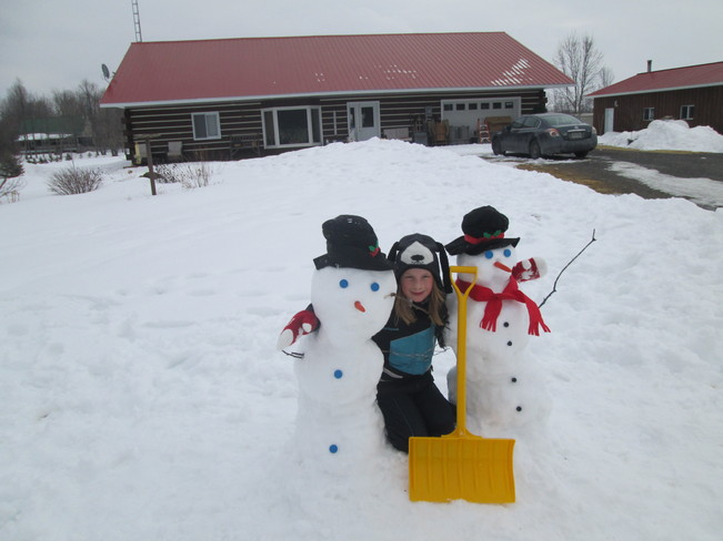 snow men Smiths Falls, Ontario Canada
