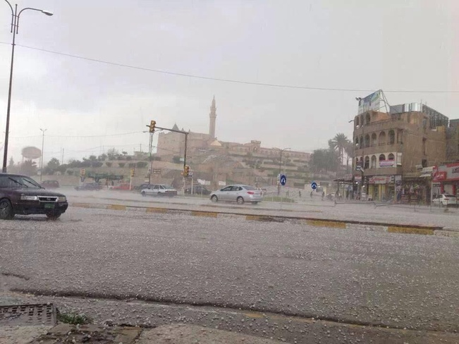 frozen rain in Mosu, Iraq Mosul, Ninawa Iraq
