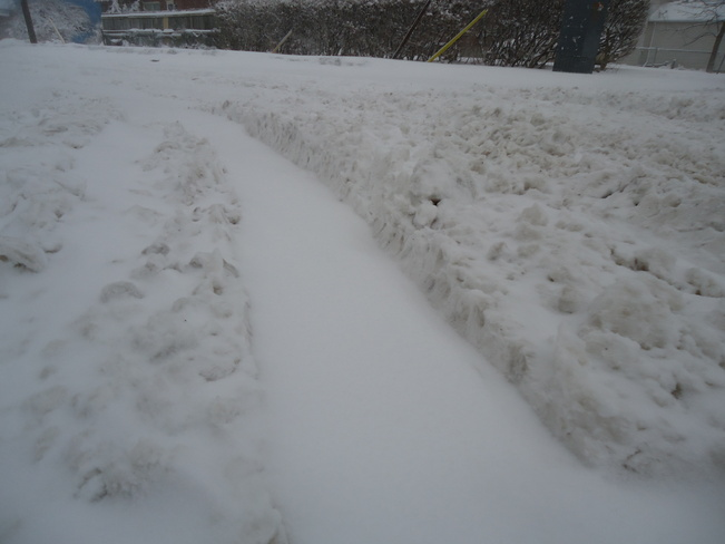 blizzard creates ridges of snow on streets Fort Erie ON Canada Fort Erie, Ontario Canada