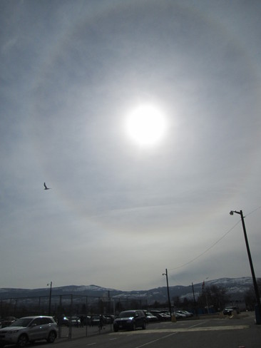 Rainbow around the sun Kelowna, British Columbia Canada
