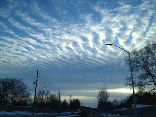 funky clouds :) London, Ontario Canada