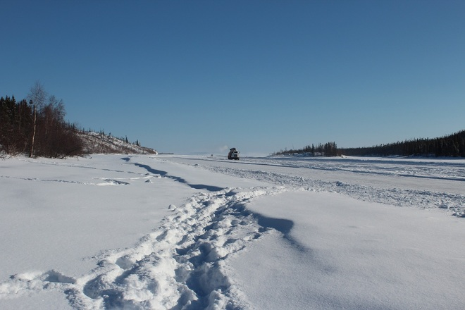 Ice Road Truckers Wollaston Lake, Saskatchewan Canada