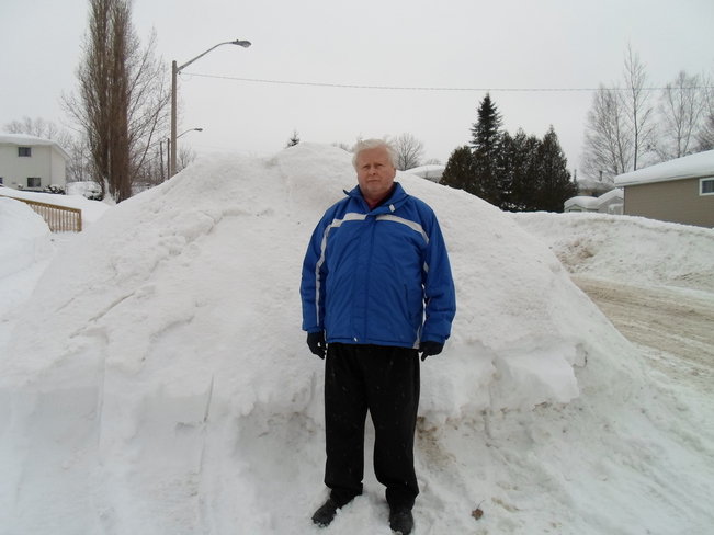 Snow Bank at least over 6 feet Elliot Lake, Ontario Canada