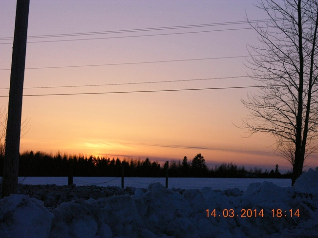 Sunset After our Big Storm Salisbury, New Brunswick Canada