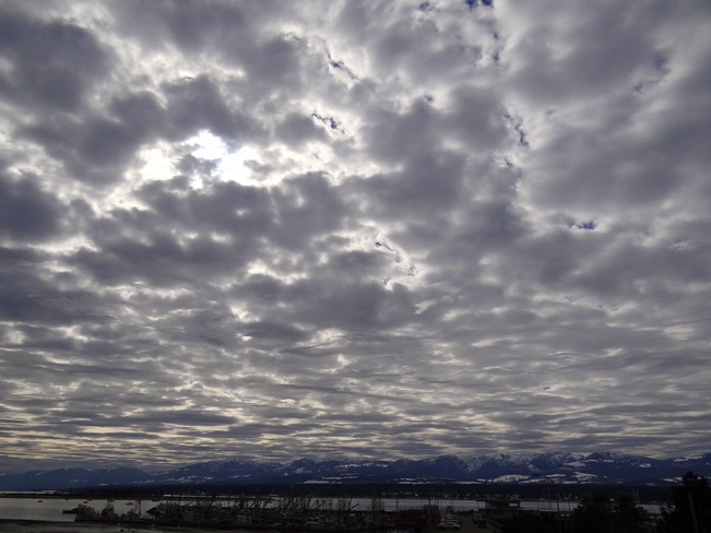 Interesting clouds Comox, British Columbia Canada