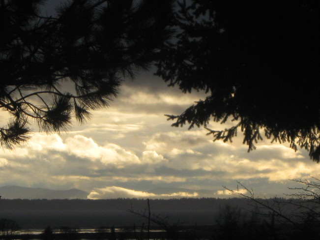 layers of clouds Surrey, British Columbia Canada