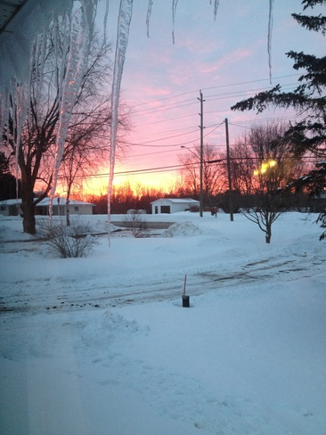 red sky in the morning Mallorytown, Ontario Canada
