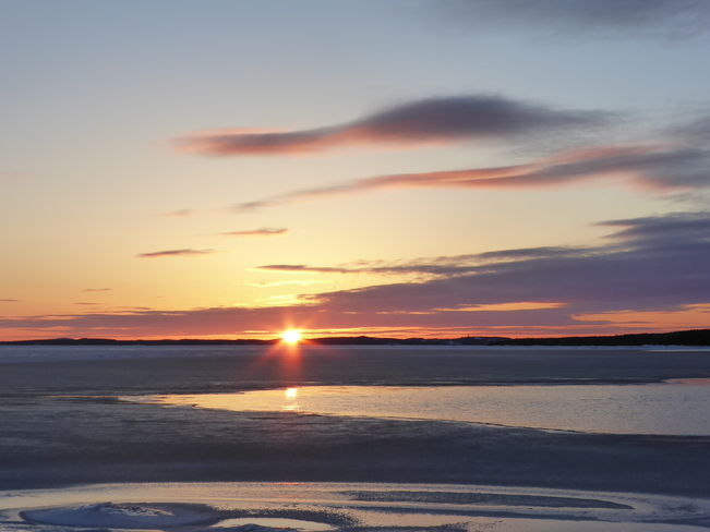Winter's Last Sunset Birchy Bay, Newfoundland and Labrador Canada